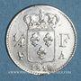 Monnaies 2e Restauration. Louis XVIII (1815-1824). 1/4 franc 1818A