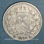 Monnaies 2e restauration. Louis XVIII (1815-1824). 2 francs 1824A