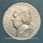 Monnaies 2e Restauration. Louis XVIII (1815-1824). 5 francs buste nu 1820A