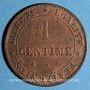 Monnaies 3e république (1870-1940). 1 centime Cérès 1872A. Ancre