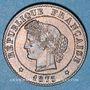Monnaies 3e république (1870-1940). 1 centime Cérès 1875A