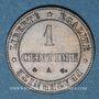 Monnaies 3e république (1870-1940). 1 centime Cérès 1878A