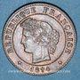 Monnaies 3e république (1870-1940). 1 centime Cérès 1894 A