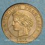 Monnaies 3e république (1870-1940). 1 centime Cérès 1895 A