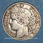 Monnaies 3e république (1870-1940). 1 franc Cérès 1888 A