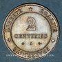Monnaies 3e république (1870-1940). 2 centimes Cérès, 1877A. Ancre