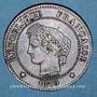 Monnaies 3e république (1870-1940). 2 centimes Cérès, 1879A. Petit A
