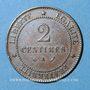 Monnaies 3e république (1870-1940). 2 centimes Cérès 1890 A
