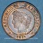 Monnaies 3e république (1870-1940). 2 centimes Cérès, 1891A