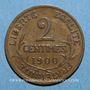 Monnaies 3e république (1870-1940). 2 centimes Dupuis, 1900