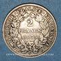 Monnaies 3e république (1870-1940). 2 francs Cérès 1873 A