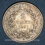 Monnaies 3e république (1870-1940). 2 francs Cérès 1887 A