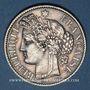 Monnaies 3e république (1870-1940). 2 francs Cérès, 1887A