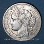 Monnaies 3e république (1870-1940). 2 francs Cérès, 1894A