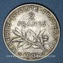 Monnaies 3e république (1870-1940). 2 francs Semeuse 1908