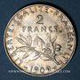 Monnaies 3e république (1870-1940). 2 francs Semeuse 1909