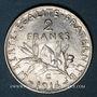 Monnaies 3e république (1870-1940). 2 francs Semeuse 1914C. Castelsarrasin