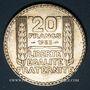 Monnaies 3e république (1870-1940). 20 francs Turin 1933. Rameaux longs