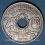 Monnaies 3e république (1870-1940). 25 centimes Lindauer 1919