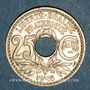 Monnaies 3e république (1870-1940). 25 centimes Lindauer, type souligné, 1915