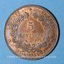 Monnaies 3e république (1870-1940). 5 centimes Cérès 1897 A. Torche