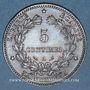 Monnaies 3e république (1870-1940). 5 centimes Cérès, 1897A. Torche