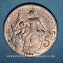 Monnaies 3e république (1870-1940). 5 centimes Dupuis, 1904