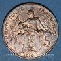 Monnaies 3e république (1870-1940). 5 centimes Dupuis, 1916. Madrid