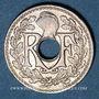 Monnaies 3e république (1870-1940). 5 centimes Lindauer, petit module 1920