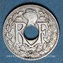 Monnaies 3e république (1870-1940). 5 centimes Lindauer, petit module 1933
