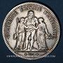 Monnaies 3e république (1870-1940). 5 francs Hercule, 1873A. Variété semblant inédite ...