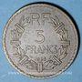Monnaies 3e république (1870-1940). 5 francs Lavrillier bronze d'aluminium 1938