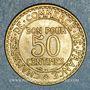 Monnaies 3e république (1870-1940). 50 centimes Chambre de commerce 1922