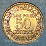 Monnaies 3e république (1870-1940). 50 centimes Chambre de commerce 1923