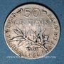 Monnaies 3e république (1870-1940). 50 centimes Semeuse 1903