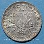 Monnaies 3e république (1870-1940). 50 centimes Semeuse 1908