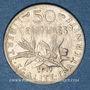 Monnaies 3e république (1870-1940). 50 centimes Semeuse 1911