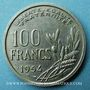 Monnaies 4e république (1947-1959). 100 francs Cochet 1954