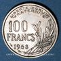 Monnaies 4e république (1947-1959). 100 francs Cochet 1958
