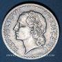 Monnaies 4e république (1947-1959). 5 francs Lavrillier aluminium 1948 B