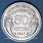 Monnaies 4e république (1947-1959). 50 cmes Morlon aluminium 1947 B