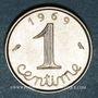 Monnaies 5e république (1959- /). 1 centime épi 1969. 2e 9 queue longue