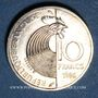 Monnaies 5e république (1959- ). 10 francs 1986 Schuman, argent, B.U.