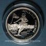 Monnaies 5e république (1959-). 100 francs 1989 J.O. Albertville 1992. Patinage artistique