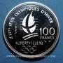 Monnaies 5e république (1959-). 100 francs 1990 J.O. Albertville 1992. Patinage de vitesse
