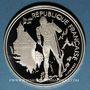 Monnaies 5e république (1959-). 100 francs 1991 J.O. Albertville 1992. Ski de fond / Château... Savoie