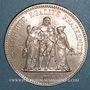 Monnaies 5e république (1959- ). 50 francs 1974, avers de la 20 francs