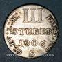 Monnaies Allemagne. Berg et Clève. Joachim Murat (1806-1808). 3 stuber 1806S