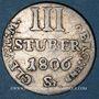 Monnaies Allemagne. Berg et Clève. Joachim Murat (1806-1808). 3 stuber 1806Sr