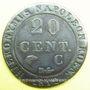 Monnaies Allemagne, Westphalie, Jérôme Napoléon (1807-13), 20 cmes 1812C Cassel